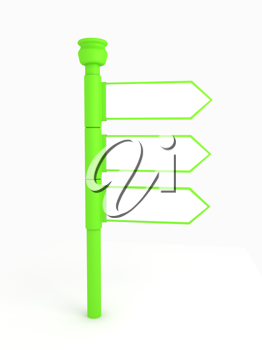 Royalty Free Clipart Image of a Green Signpost
