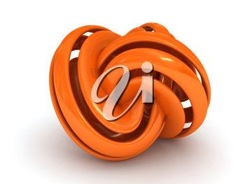 Royalty Free Clipart Image of a Torus Knot