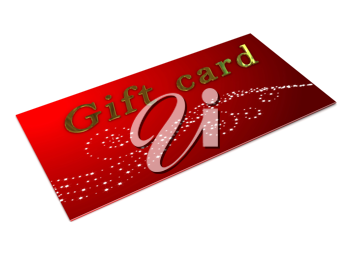 Royalty Free Clipart Image of a Gift Card