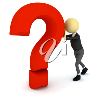Royalty Free Clipart Image of a Person With a Question Mark