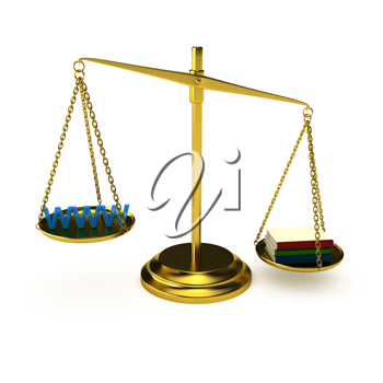 Royalty Free Clipart Image of a Choice Concept