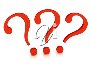 Royalty Free Clipart Image of Question Marks