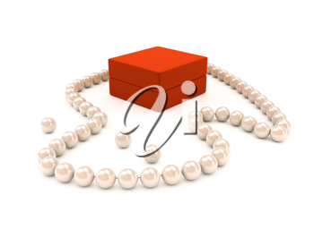 Royalty Free Clipart Image of a Pearl Necklace