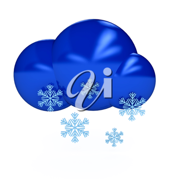 Royalty Free Clipart Image of a Snow Cloud