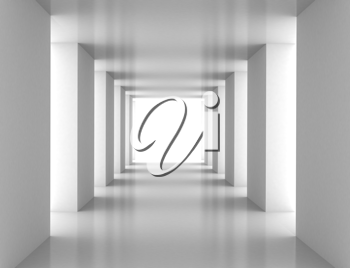 Royalty Free Clipart Image of a White Tunnel