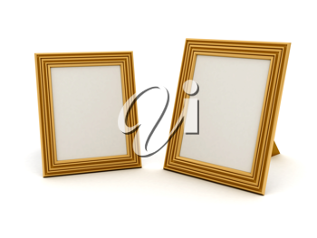 Royalty Free Clipart Image of Picture Frames