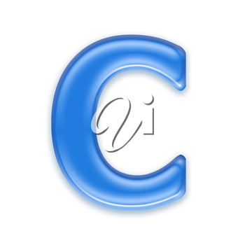 Royalty Free Clipart Image of a Letter 'C'