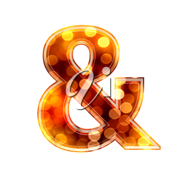 Royalty Free Clipart Image of an & symbol