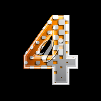 Royalty Free Clipart Image of a Number Four