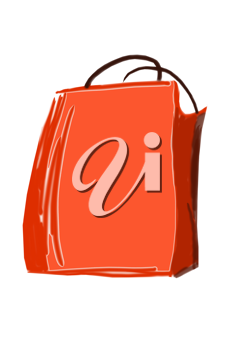 Royalty Free Clipart Image of a Shopping Bag