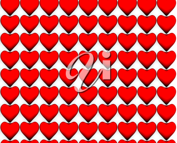 Royalty Free Clipart Image of a Seamless Heart Pattern