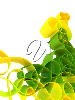 Royalty Free Clipart Image of a Swirly Background