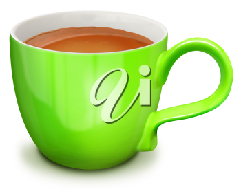 Royalty Free Clipart Image of a Cup of Coffee or Cocoa