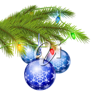 Royalty Free Clipart Image of Christmas Tree Ornaments
