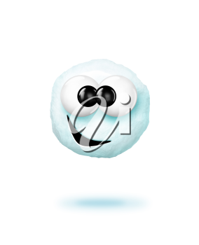 Royalty Free Clipart Image of a Snowball