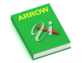 Royalty Free Clipart Image of the Word Arrow on a Book