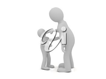 Royalty Free Clipart Image of a Man and Child