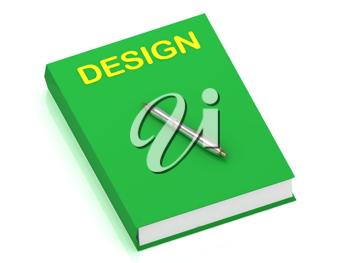 Royalty Free Clipart Image of a Book With the Word Design