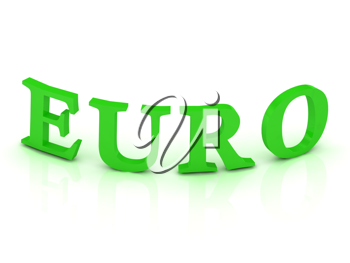 Royalty Free Clipart Image of the Word Euro