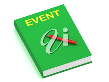 Royalty Free Clipart Image of a Book With the Word Event