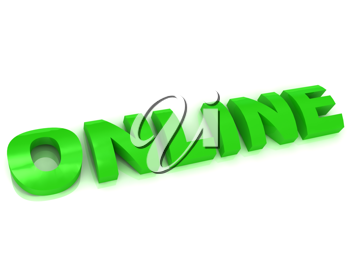 Royalty Free Clipart Image of the Word Online