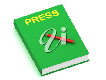 Royalty Free Clipart Image of a Book With the Word Press