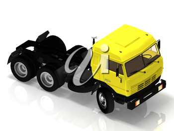 Heavy truck without a container on a white background