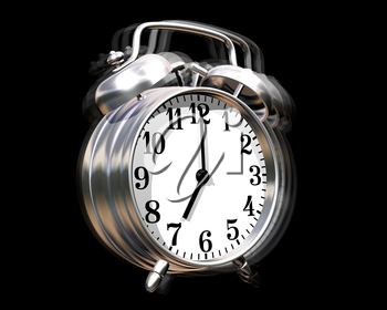 Royalty Free Clipart Image of a Ringing Alarm Clock
