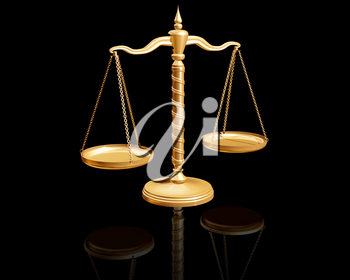 Royalty Free Clipart Image of a Weigh Scales