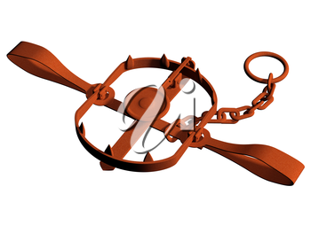 Royalty Free Clipart Image of a Bear Trap