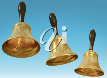 Royalty Free Clipart Image of Hand Bells