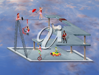 Royalty Free Clipart Image of a Circus