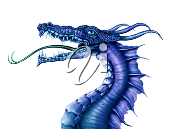 Royalty Free Clipart Image of a Dragon