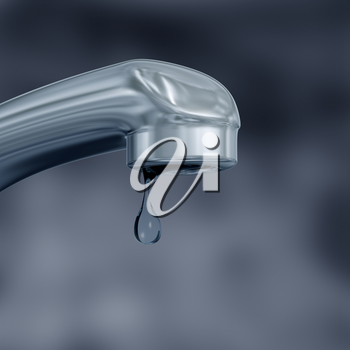 Royalty Free Clipart Image of a Dripping Tap