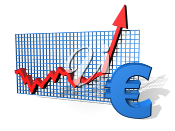 Royalty Free Clipart Image of a Euro Sign Chart