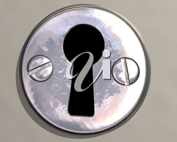 Royalty Free Clipart Image of a Keyhole
