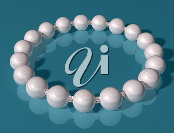 Royalty Free Clipart Image of a Pearl Bracelet