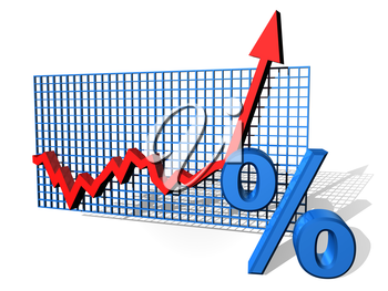 Royalty Free Clipart Image of a Line Graph