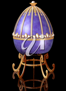 Royalty Free Clipart Image of a Decorated Easter Egg