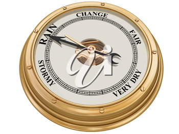Royalty Free Clipart Image of a Barometer