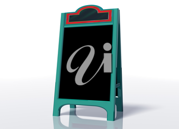 Royalty Free Clipart Image of a Chalkboard on a Stand