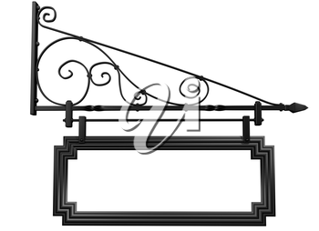 Royalty Free Clipart Image of an Isolated Blank Shop Sign