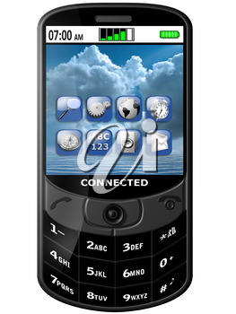 Royalty Free Image of a Connected Modern Smartphone