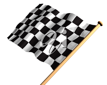 Isolated illustration of a checkered flag