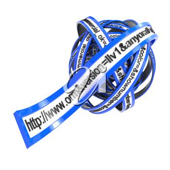 World Wide Web Browser Concept Present By URL Address Line in Form of a Blue Ball.
