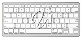 Modern Computer Keyboard. Isolated on White Background.