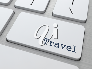 Travel Concept. Button on Modern Computer Keyboard with Word Partners on It.