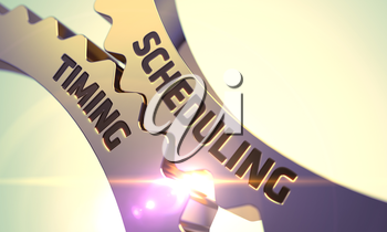 Scheduling Timing - Illustration with Glow Effect and Lens Flare. 3D Render.