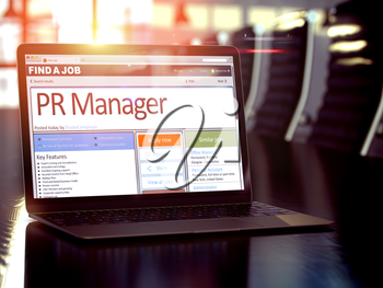 PR Manager - Job Find Concept. Headhunting Concept. 3D