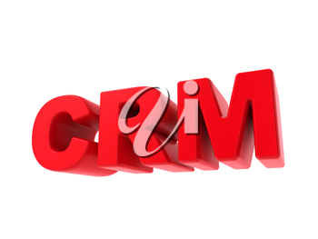 CRM - Red Text Isolated on White. Internet Concept.
